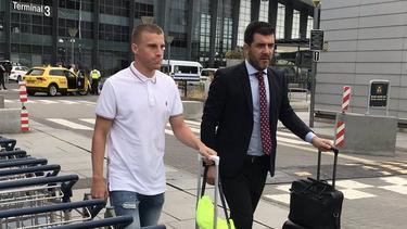 Pep Biel en su llegada a Dinamarca.