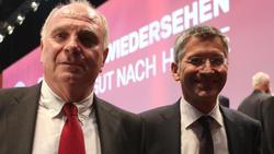 Sprechen über mögliche Guardiola-Rückkehr zum FC Bayern: Uli Hoeneß (l.) und Herbert Hainer