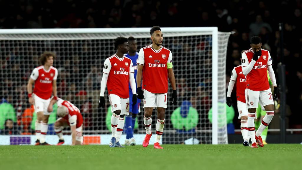 Lange Gesichter beim FC Arsenal nach dem Aus in der Europa League
