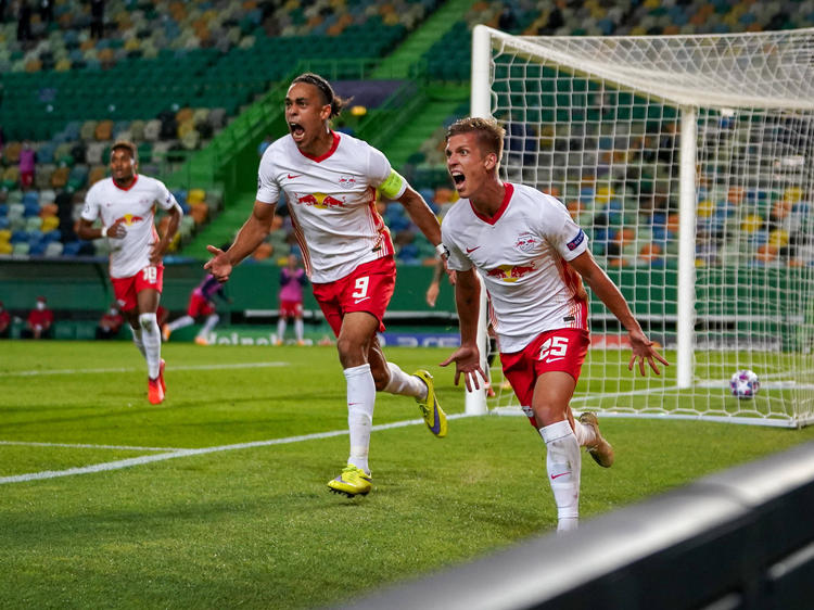 Die Leipziger jubeln über ihren Viertelfinal-Sieg