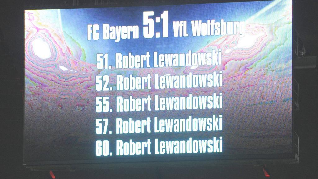 Nur Lewandowski hat Platz auf der Münchner Anzeigetafel