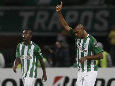 Miguel Borja se convirtió en el gran héroe de la eliminatoria en Colombia. (Foto: Imago)