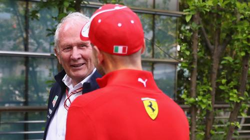 Helmut Marko (l.) nimmt Sebastian Vettel nach Montreal explizit in Schutz