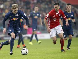 Gegen den FC Bayern hatte RB Leipzig einen schweren Stand