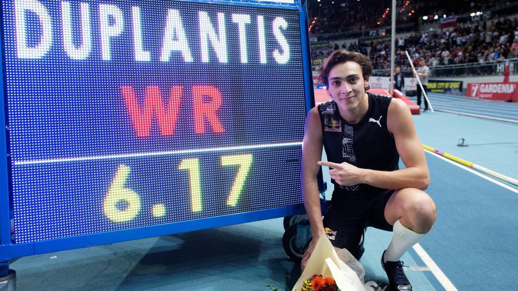 Armand Duplantis stellte in Polen einen neuen Stabhochsprung-Weltrekord auf
