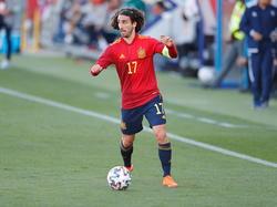Cucurella con la camiseta de España Sub-21.