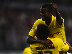 Borussia Dortmunds Adrian Ramos feiert einen Treffer in der Champions League