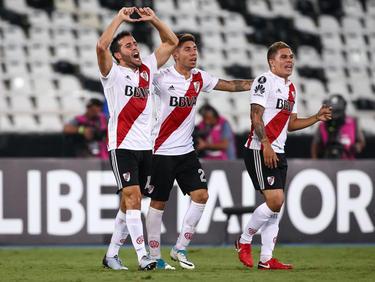 Camilo Mayada marcó el empate del River contra el Flamengo. (Foto: Getty)