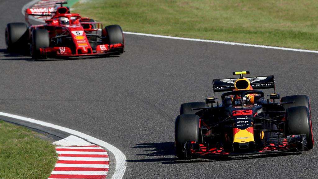 Max Verstappen landete im ersten Brasilien-Training vor Sebastian Vettel