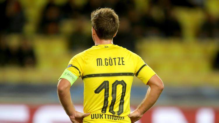 Mario Götze führte den BVB gegen die AS Monaco als Kapitän aufs Feld