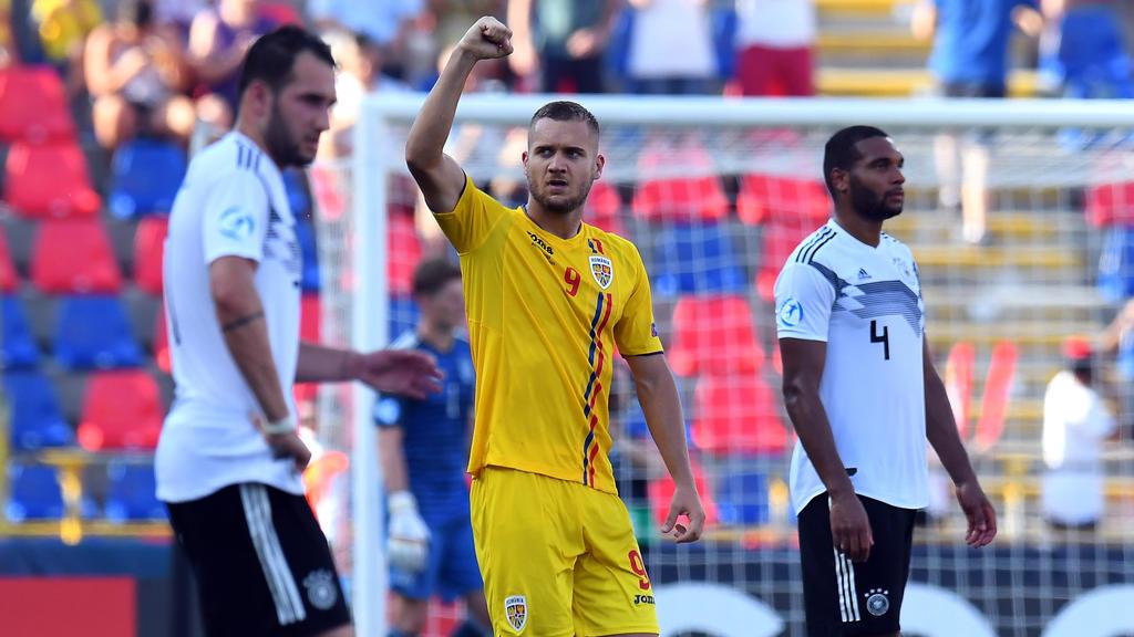 George Puscas traf bei der U21-EM doppelt gegen das deutsche Team