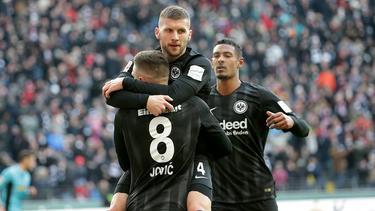 Sorgten bei Eintracht Frankfurt für Furore: Haller, Rebic und Jovic