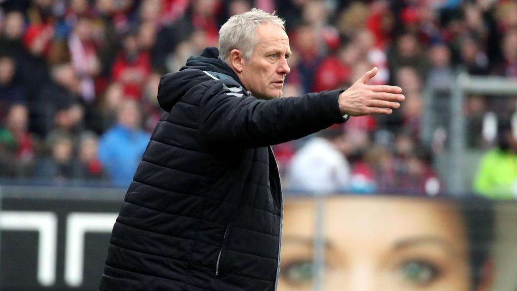 Freiburgs Trainer Christian Streich hat keine Angst vor dem Corona-Virus