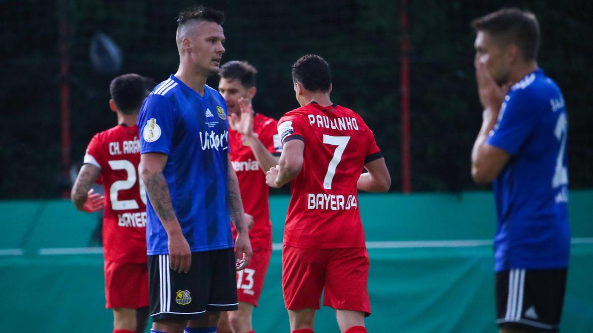 Bayer Leverkusen schlägt den 1. FC Saarbrücken im DFB-Pokal