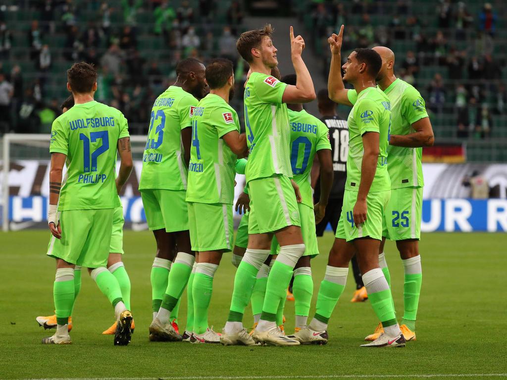 Die Wolfsburger freuten sich in der ersten Halbzeit zweimal über einen eigenen Treffer