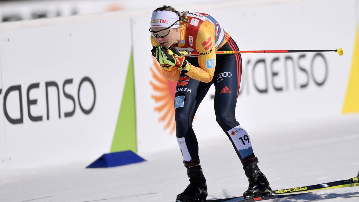 Victoria Carl führte die deutsche Staffel auf einen guten fünften Platz