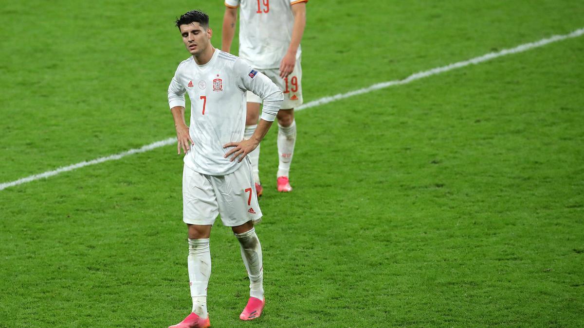 Spaniens Álvaro Morata scheiterte vom Punkt