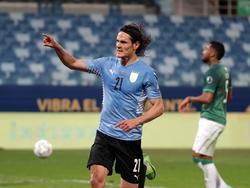 Edinson Cavani bejubelt seinen Treffer gegen Bolivien