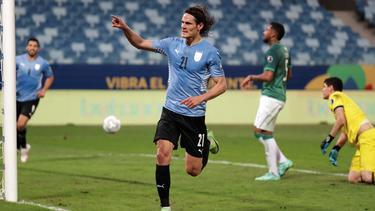 Starstürmer Edinson Cavani traf gegen Bolivien