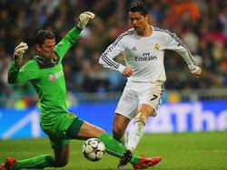 Cristiano Ronaldo (r.) im Spiel gegen Borussia Dortmund