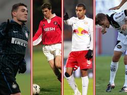 Von links nach rechts: Mateo Kovačić, Andy Hunt, Alan, Adrianinho