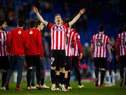 Iker Muniain (M.) steht vor seinem Comeback bei Athletic