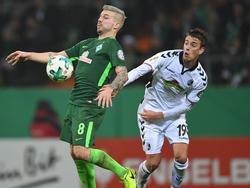 Nach nur einem Jahr in Bremen steht Jérôme Gondorf (l.) vor einem Wechsel zu Freiburg