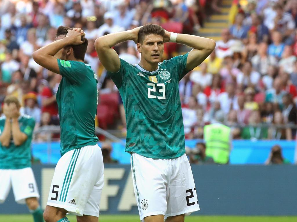 Mario Gomez kann das WM-Aus der deutschen Nationalmannschaft noch nicht fassen