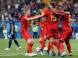Rote Jubeltraube nach dem Last-Minute-Treffer von Nacer Chadli