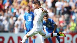 Lucas Alario traf entscheidend für Leverkusen