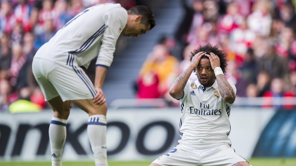 Marcelo (r.) und Cristiano Ronaldo spielten neun Jahre gemeinsam für Real Madrid