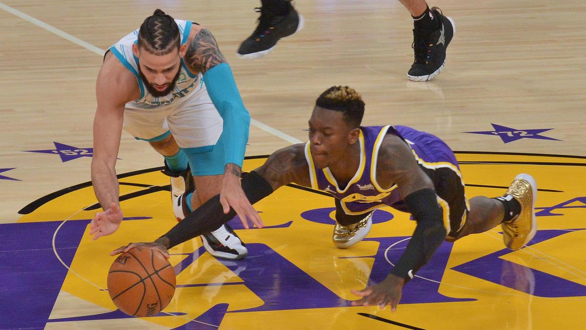Schröder (r.) wechselte erst im letzten Jahr zu den Lakers