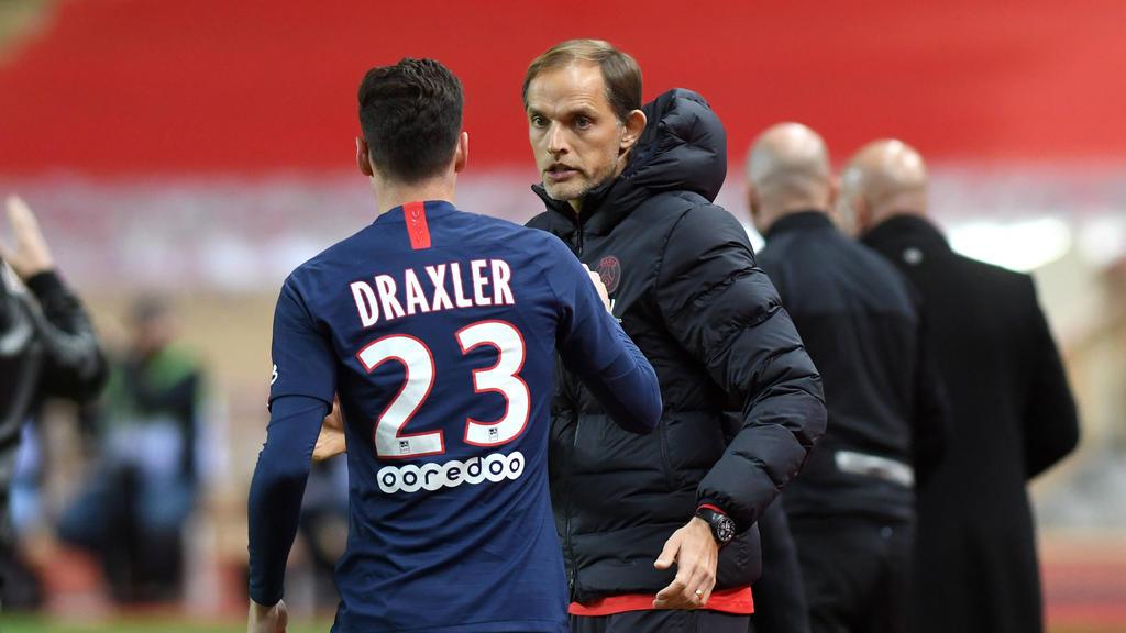Mit PSG im Pokal weiter: Julian Draxler und Thomas Tuchel