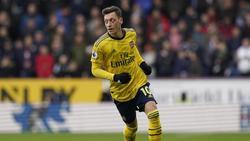 Mesut Özil steht beim FC Arsenal nicht im Aufgebot
