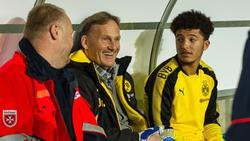 Jadon Sancho(r.)  vom BVB weckt bei vielen Top-Klubs Begehrlichkeiten