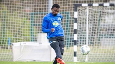 Wurde nach Video-Eklat suspendiert: Salomon Kalou von Hertha BSC