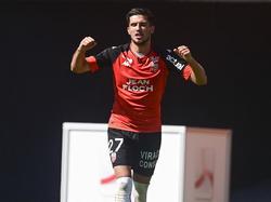 Adrian Grbić hat sich erstmals als Lorient-Stürmer in die Schützenliste eingetragen