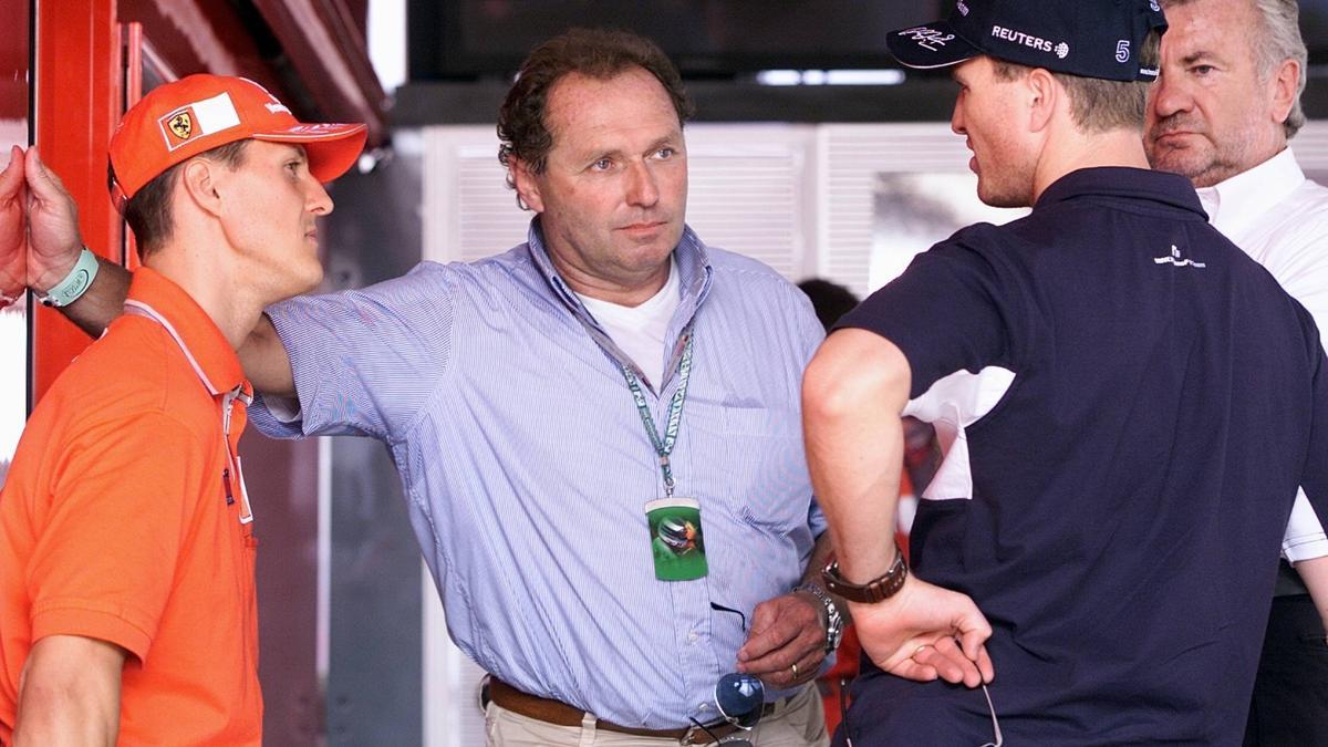 Jochen Mass im Gespräch mit Michael und Ralf Schumacher