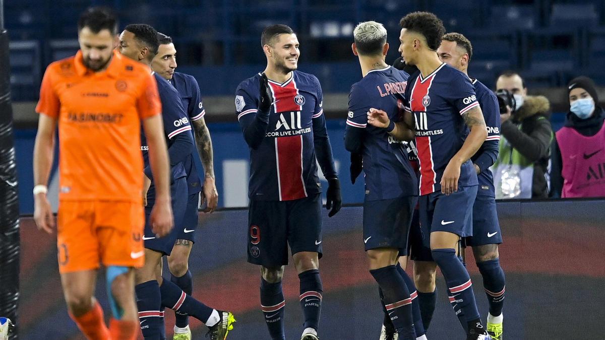 PSG setzte sich gegen Montpellier durch