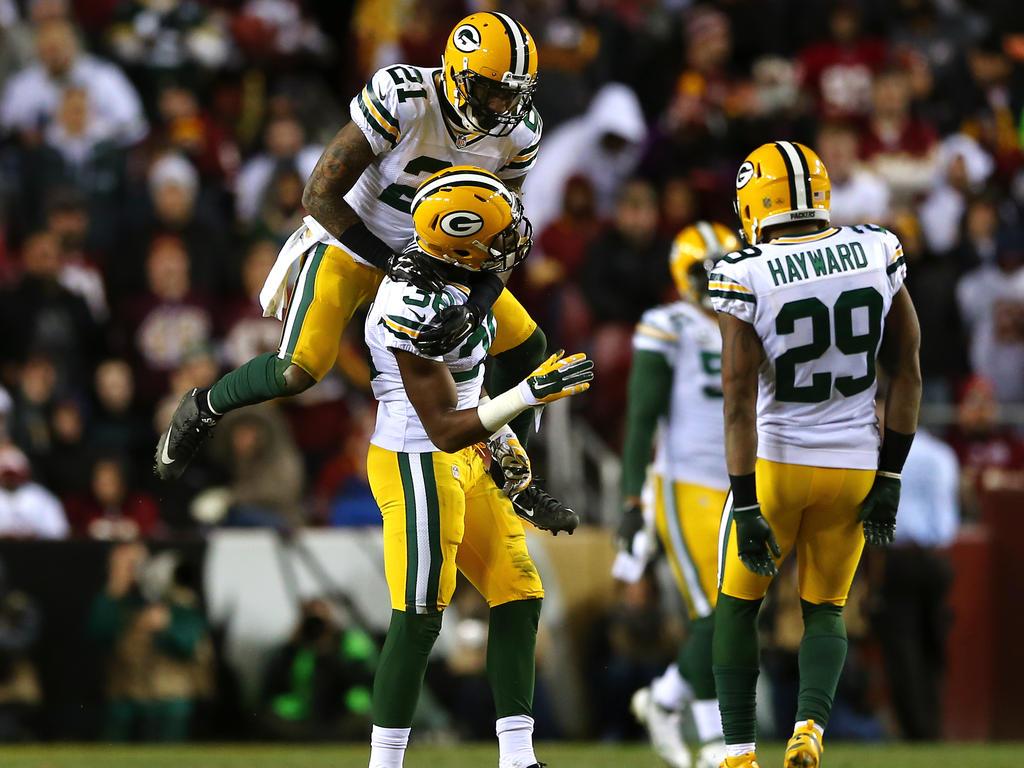 Jubel nach der Aufholjagd: Die Green Bay Packers