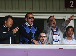 Paolo Di Canio (Zweiter von links) mit Freunden in seiner West-Ham-Loge.