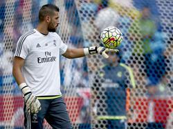 Kiko Casilla en un entrenamiento del Real Madrid. (Foto: Getty)