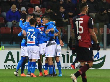 Die Spieler des SSC Neapel durften am Montag fünf Mal jubeln