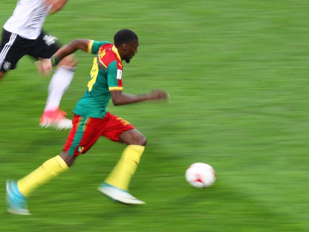 Karl Toko Ekambi im Dress der Nationalelf Kameruns