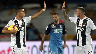 Cristiano Ronaldo erzielt gegen den FC Empoli zwei Tore für Juventus Turin