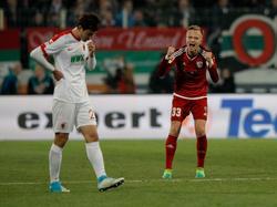 Florent Hadergjonaj (r.) ist beim FC Ingolstadt unzufrieden