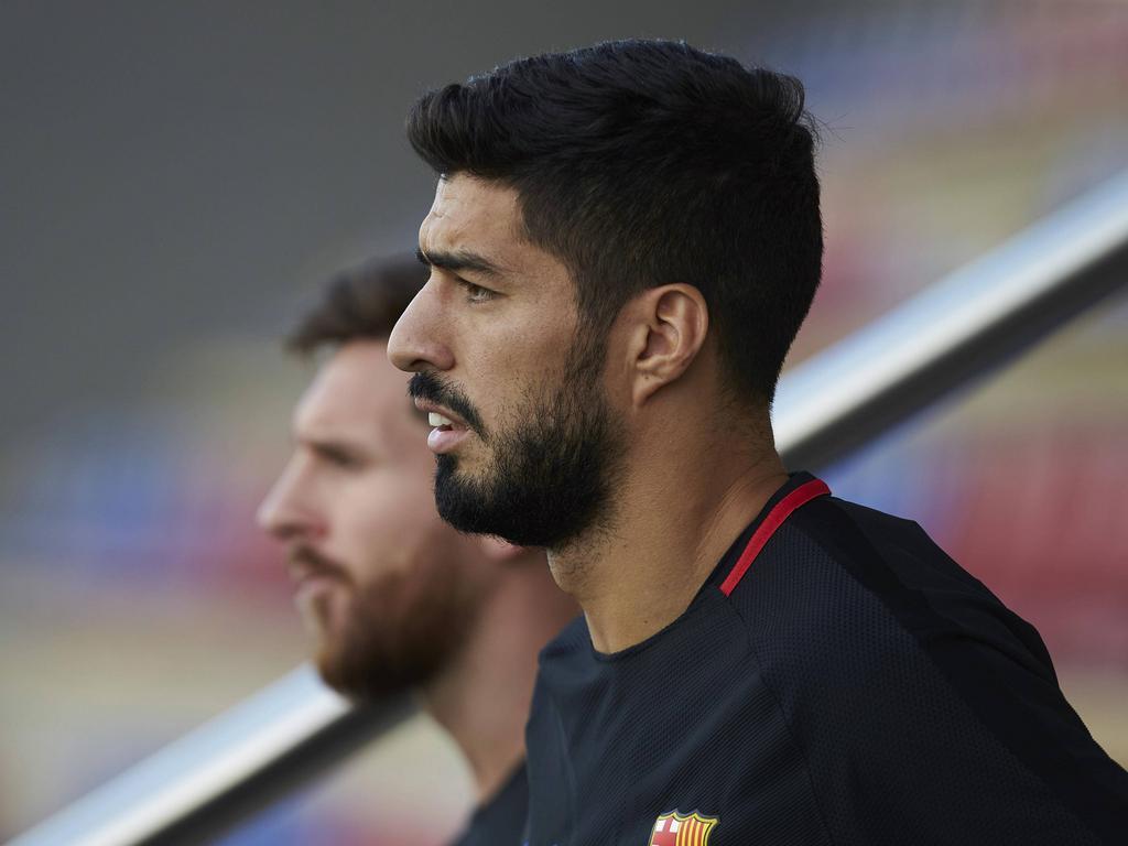 Luis Suárez en un entrenamiento del FC Barcelona. (Foto: Imago)