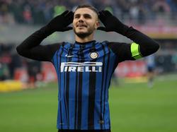 Icardi celebra un tanto con el Inter de Milán. (Foto: Getty)