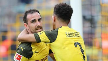 Paco Alcácer und Jadon Sancho erzielten zusammen fünf Tore für den BVB
