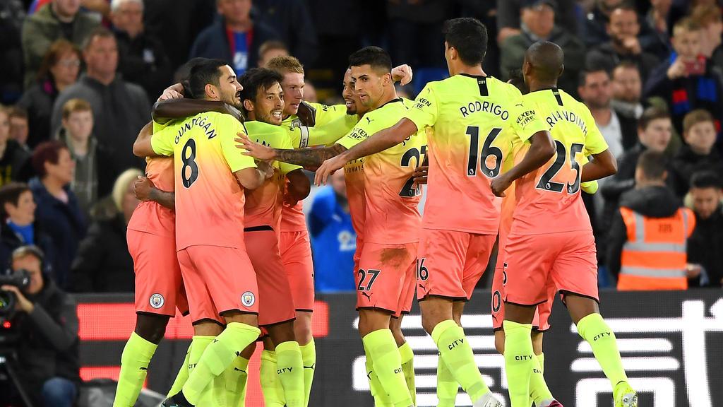 Manchester City setzte sich gegen Crystal Palace durch